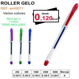 BOLÍGRAFO ROLLER GELO
