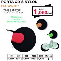 PORTA CD´S NYLON