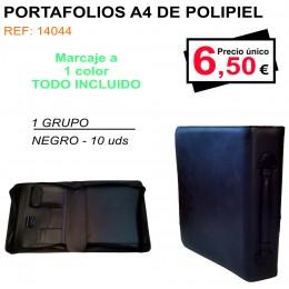 PORTAFOLIOS A4 DE POLIPIEL