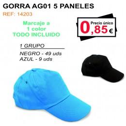 GORRA AG01 5 PANALES