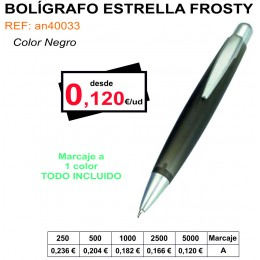 BOLÍGRAFO ESTRELLA FROSTY