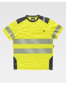 Camiseta manga corta combinada con alta visibilidad