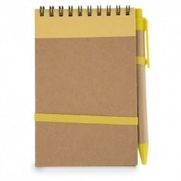 Bloc de Notas Reciclado Personalizado con Bolígrafo REF.: 11-0634